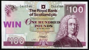 Scotland currency 100 Pounds